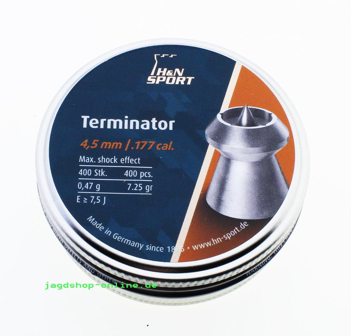 H/&N Terminator 4,5 mm B-Ware Diabolos für Luftpistolen und Luftgewehre